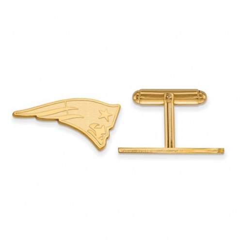 New England Patriots Sterling Silver Gold Plated Cuff Links