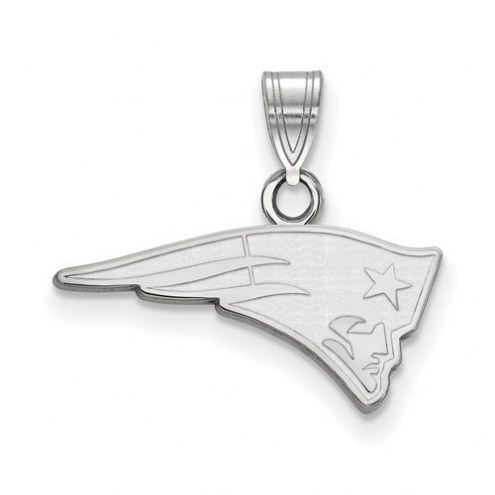 New England Patriots Sterling Silver Small Pendant