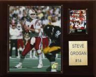 "New England Patriots Steve Grogan 12 x 15"" Player Plaque"