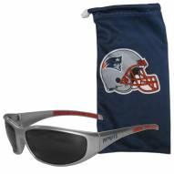 New England Patriots Sunglasses and Bag Set