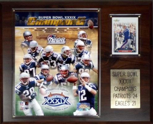 """New England Patriots 12"""" x 15"""" Super Bowl XXXIX Champions Plaque"""