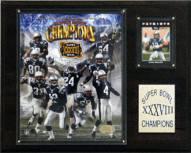 "New England Patriots 12"" x 15"" Super Bowl XXXVIII Champions Plaque"