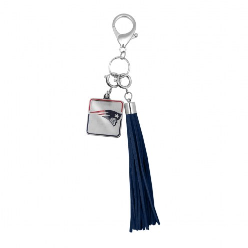 New England Patriots Tassel Purse Charm