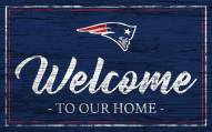 New England Patriots Team Color Welcome Sign