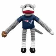 New England Patriots Team Sock Monkey Pet Toy