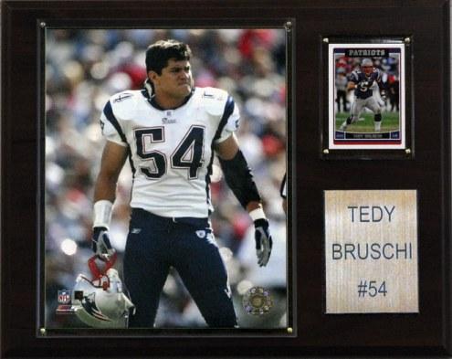 "New England Patriots Tedy Bruschi 12 x 15"" Player Plaque"