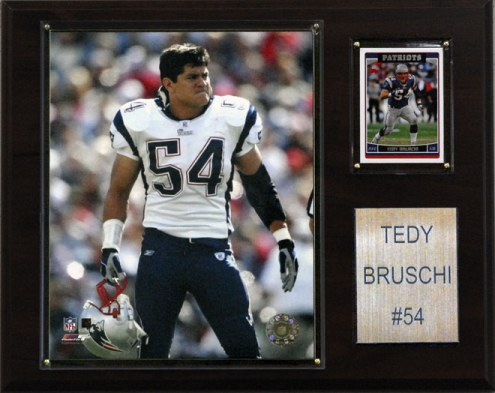 "New England Patriots Tedy Bruschi 12 x 15"" Player Plaque"