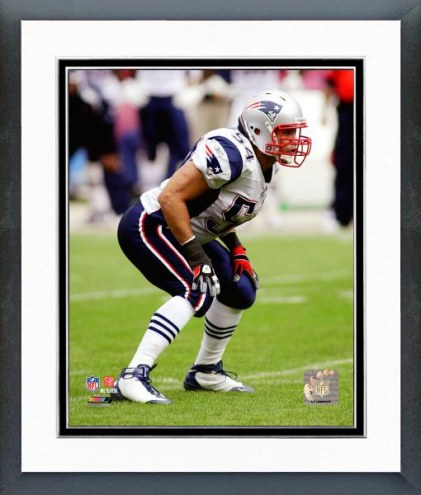 New England Patriots Tedy Bruschi 2008 Action Framed Photo