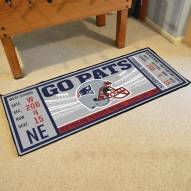 New England Patriots Ticket Runner Rug