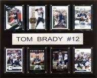 """New England Patriots Tom Brady 12"""" x 15"""" Card Plaque"""