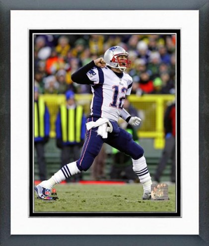 New England Patriots Tom Brady Action Framed Photo