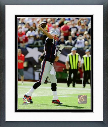 New England Patriots Tom Brady 400th Career Touchdown Pass Framed Photo