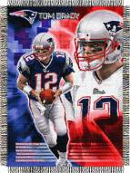 Tom Brady New England Patriots NFL Woven Tapestry Throw