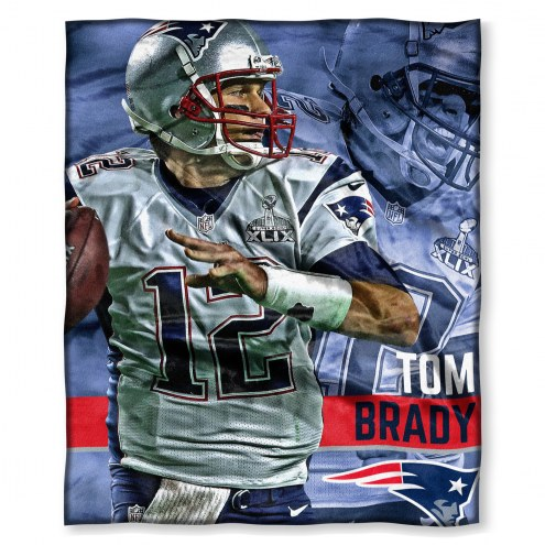 New England Patriots Tom Brady Silk Touch Blanket