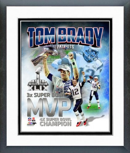 New England Patriots Tom Brady Super Bowl XLIX MVP Portrait Plus Framed Photo