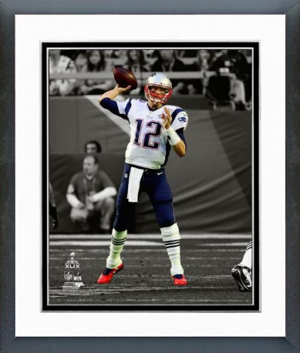 New England Patriots Tom Brady Super Bowl XLIX Spotlight Action Framed Photo
