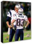 New England Patriots Tom Brady & Wes Welker Action Photo