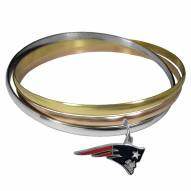 New England Patriots Tri-color Bangle Bracelet