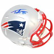 New England Patriots Troy Brown Signed Mini Speed Helmet
