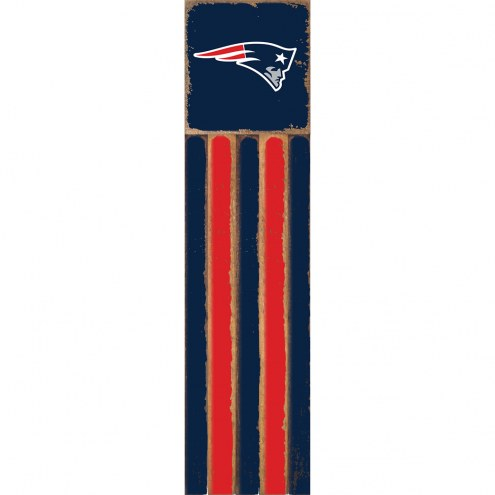 New England Patriots Vertical Flag Wall Sign