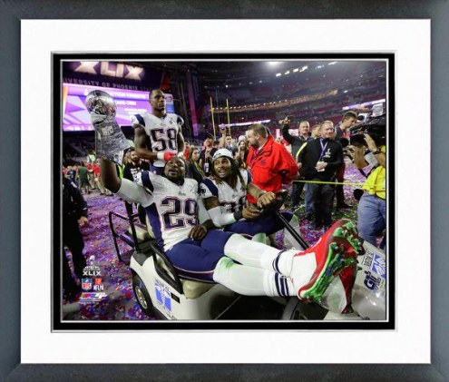 New England Patriots Vince Lombardi Trophy Super Bowl XLIX Framed Photo