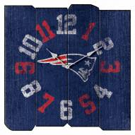 New England Patriots Vintage Square Clock