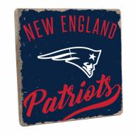 New England Patriots Vintage Square Wall Sign