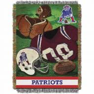 New England Patriots Vintage Throw Blanket