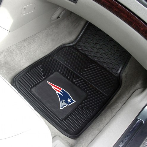 New England Patriots Vinyl 2-Piece Car Floor Mats