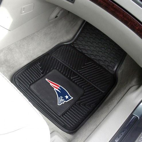 New England Patriots Vinyl 2-Piece Car Floor Mats