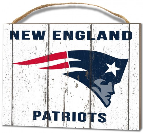 New England Patriots Weathered Logo Small Plaque