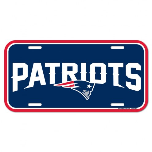 New England Patriots License Plate