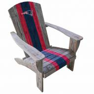 New England Patriots Wooden Adirondack Chair
