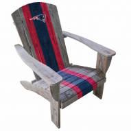 New England Patriots Wooden Adirondack Chair