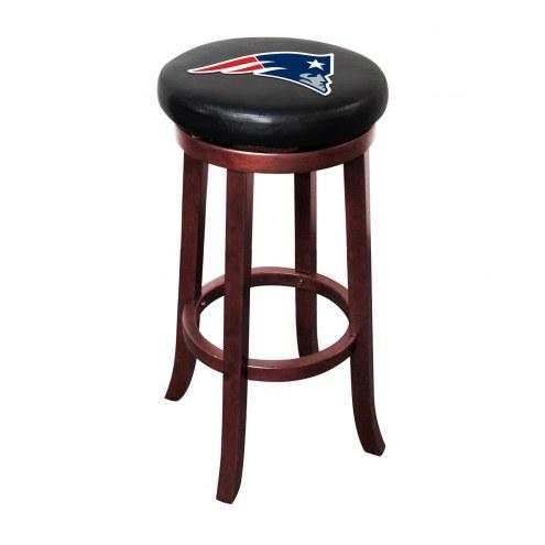 New England Patriots Wooden Bar Stool
