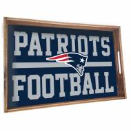 New England Patriots Wooden Serving Tray