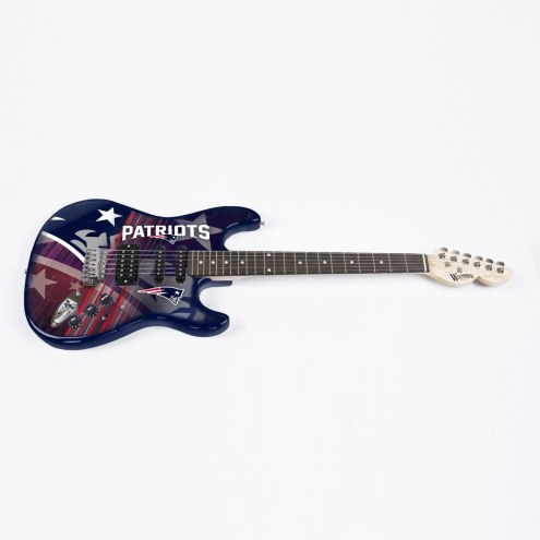 New England Patriots Woodrow Northender Electric Guitar