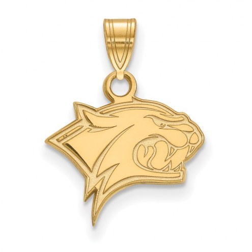 New Hampshire Wildcats College Sterling Silver Gold Plated Small Pendant