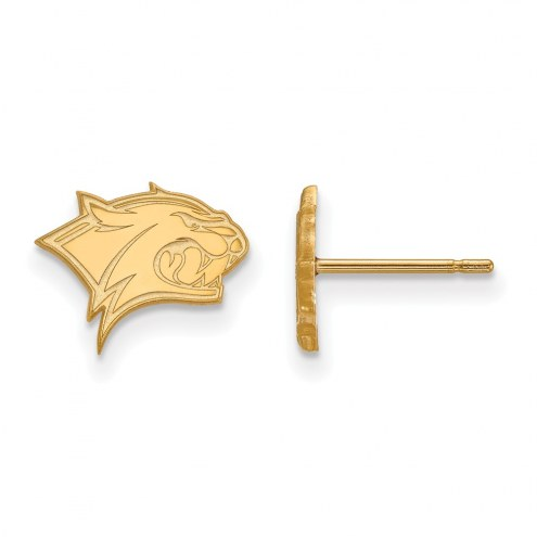 New Hampshire Wildcats Sterling Silver Gold Plated Extra Small Post Earrings