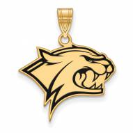 New Hampshire Wildcats Sterling Silver Gold Plated Large Enameled Pendant