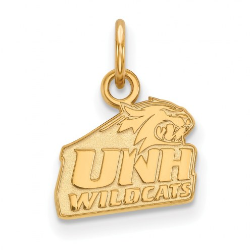 New Hampshire Wildcats NCAA Sterling Silver Gold Plated Extra Small Pendant