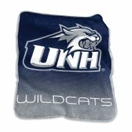 New Hampshire Wildcats Raschel Throw Blanket