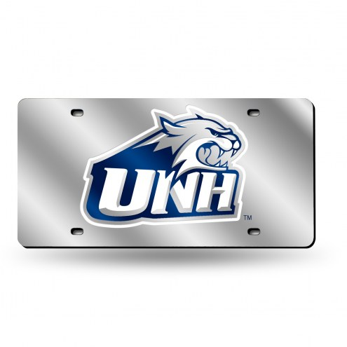 New Hampshire Wildcats Silver Laser License Plate