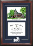 New Hampshire Wildcats Spirit Diploma Frame with Campus Image