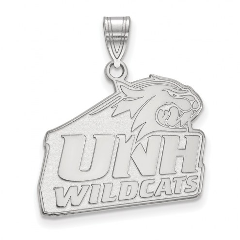 New Hampshire Wildcats Sterling Silver Large Pendant
