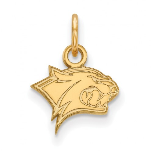 New Hampshire Wildcats Sterling Silver Gold Plated Extra Small Pendant