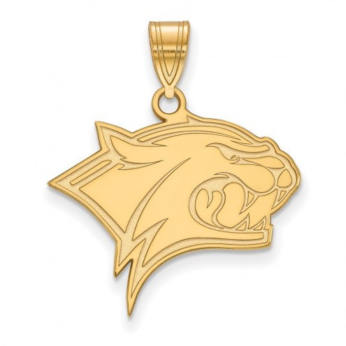 New Hampshire Wildcats Sterling Silver Gold Plated Large Pendant