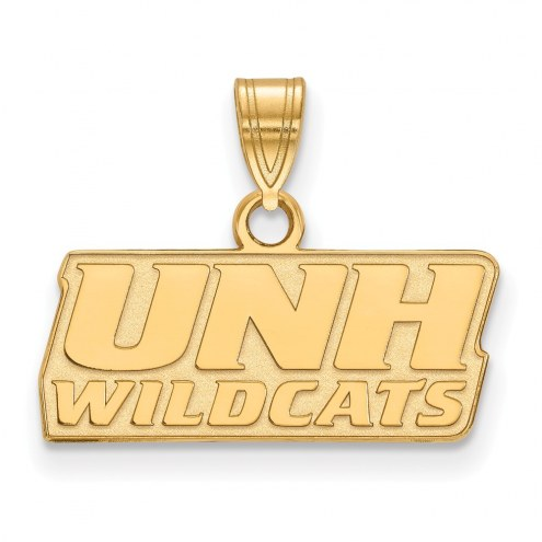 New Hampshire Wildcats Sterling Silver Gold Plated Small Pendant
