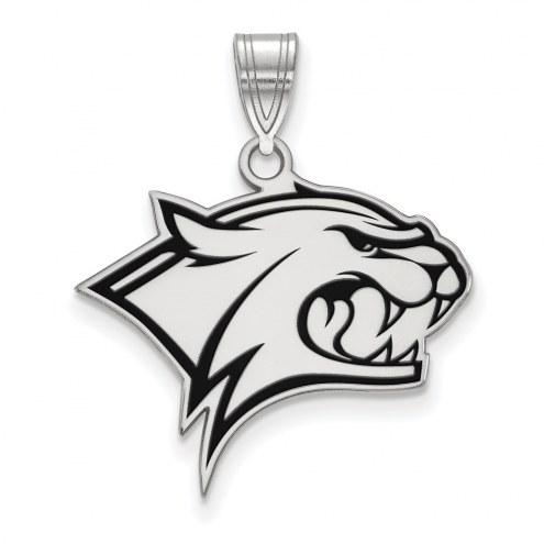 New Hampshire Wildcats Sterling Silver Large Enameled Pendant