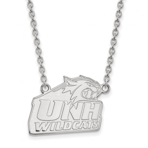 New Hampshire Wildcats Sterling Silver Large Pendant Necklace